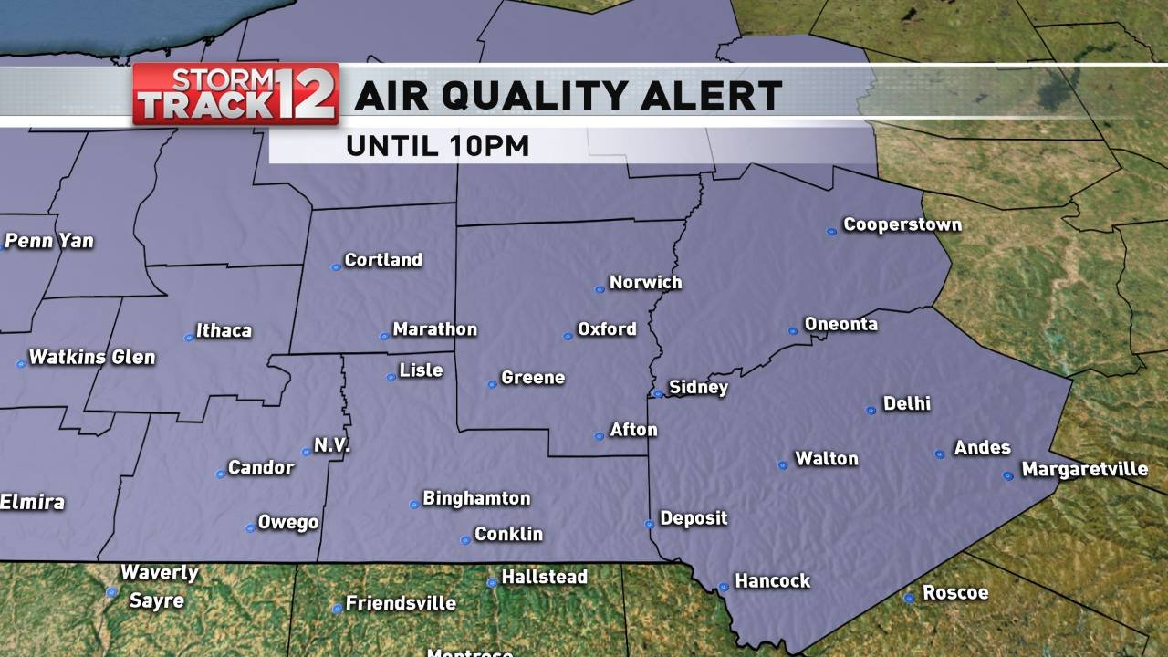 Air quality alert issued for 'sensitive groups'