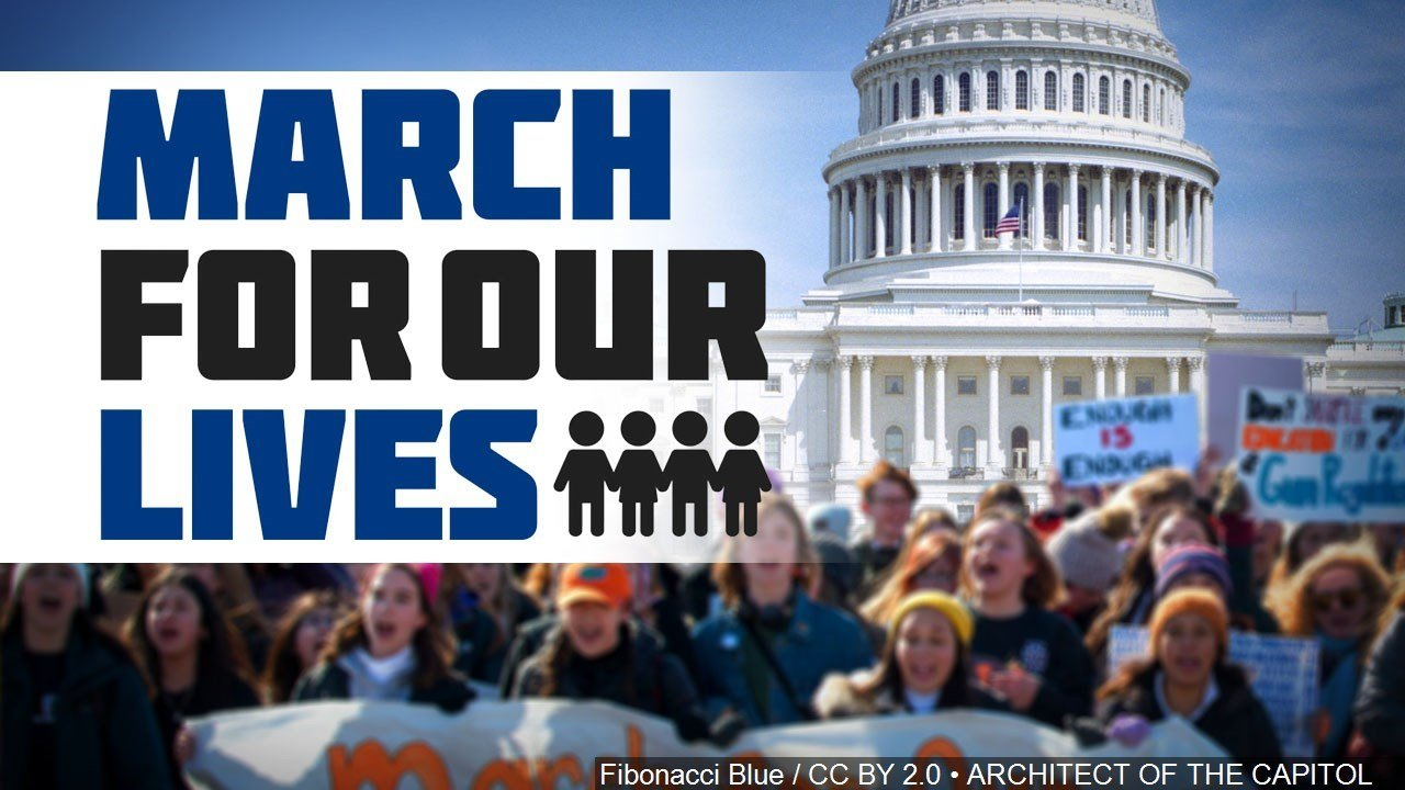 Demonstrators in Kansas, across the nation march for gun control